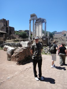 Amongst Roman ruins