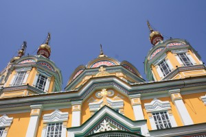 Traditional architecture in Almaty
