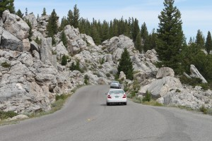 Dangerous curves near Mammouth Hot Springs