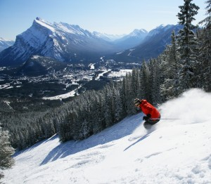 Overlooking Banff from Mt Norquay