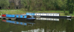 Narrowboats on the Cauldon Canal