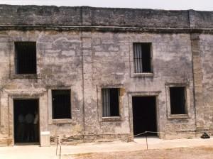 Cells in the Castillo de San Marcos