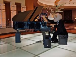 Teddies play piano in South Korea