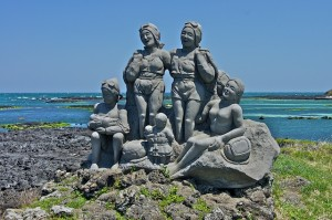 Immortalised in stone: Korea's women divers