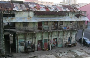 Poor tenement in Colon, Panama