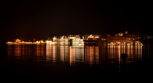 Udaipur's Lake Palace by night