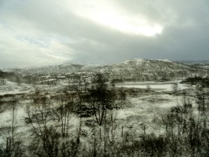 A daunting view from the train