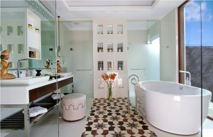A Samabe Villa bath room