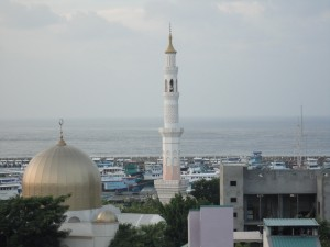 Minaret on Male, capital of the Maldives