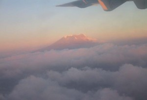 Kilimanjaro from the air
