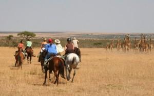 Horseback riding in the Masai Mara