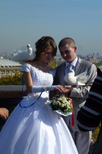 Russian newlyweds
