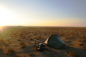 Camping in the Kyzylkum Desert