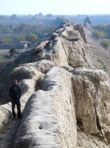 Balkh's ancient city wall, Afghanistan