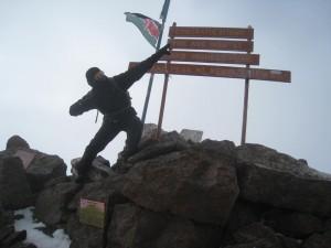 Mount Kenya: the summit
