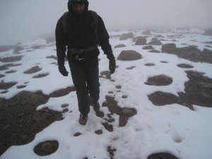 High on Mount Kenya: cold and icy