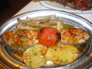 Grilled fish at Los Caracoles