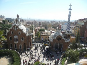 View over Parc Guell