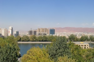 Tabriz, view over Shahgouli Park