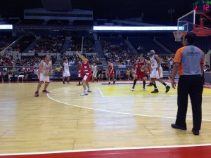 Singapore basketball game with the Philippines