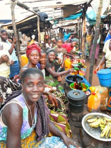 Village market, Sierra Leone