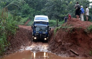 West African road and overland truck