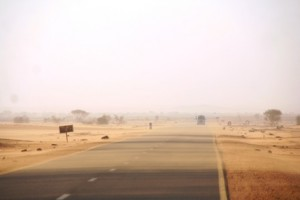 The road to Khartoum, Sudan