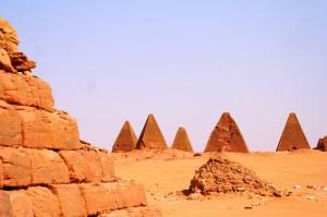Pyramids in Nubian Desert