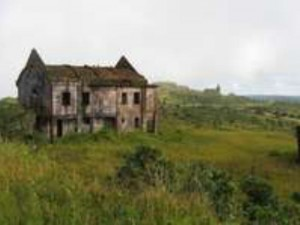 Abandoned building at Bokor, Cambodia