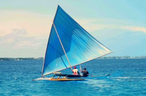 Outrigger racing on the Marshal Islands