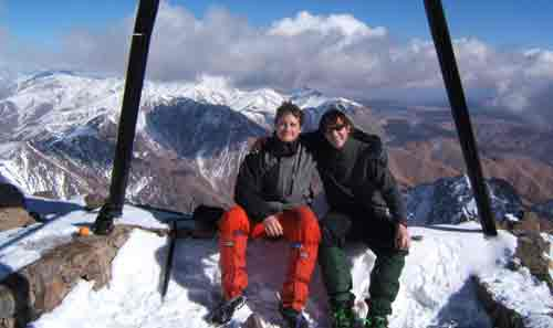At the summit of Mount Toubkal