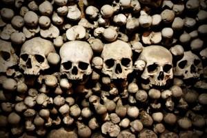 Sedlec Ossuary, Kutna Hora, skulls and bones