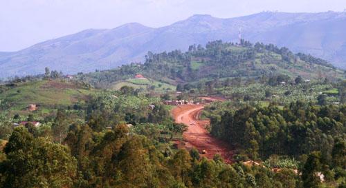 Dirt road through Uganda