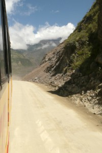 Bus on the Andes
