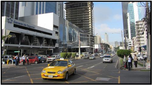 Panama city street scene