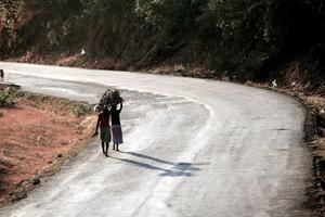 Women carrying wood, Malawi