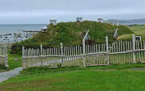 Viking sod longhouse, Newfoundland