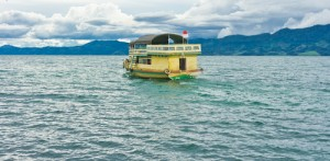 Ferry on Lake Toba, Sumatra