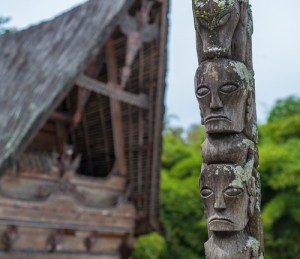 Batak sculpture, Lake Toba, Indonesia