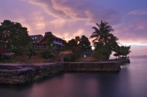 Sunset over Samosir Island, Lake Toba, Sumatra