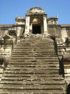 Steps up Angkor Wat
