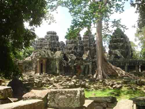 Overgrown temples at Angkor Wat