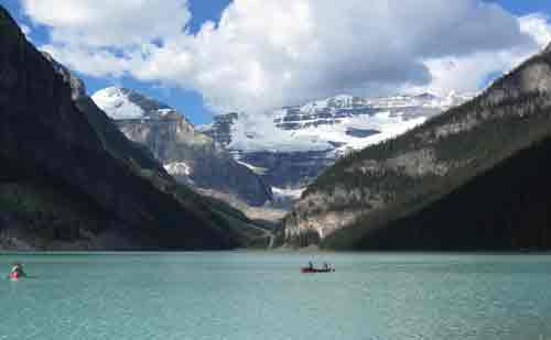 Victoria Glacier over Lake Louise
