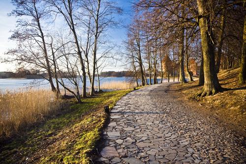Trakai lakeside path, Lithuania