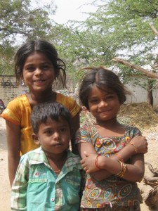 Indian children, hampi