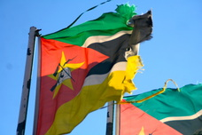 Mozambique flag (with AK47)