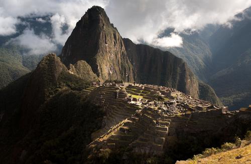 Machu Picchu amongst the clouds