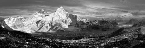 Chomolungma mountainscape, Nepal
