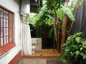 Banana shower, guest house, Harare, Zimbabwe