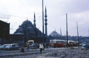 Istanbul traffic in 1967